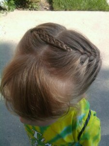 braided headband with french braids
